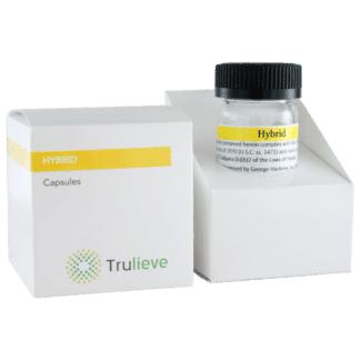 Trulieve Capsule Bottle 25ct 10mg Hybrid