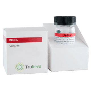 Trulieve Capsule Bottle 25ct 10mg Indica